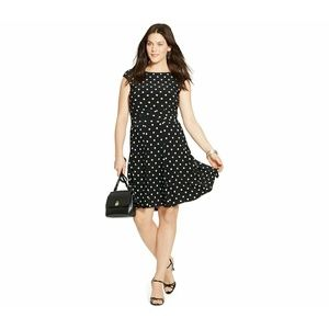 New! Ralph Lauren Dainty Polka Dot Dress Cap Slv